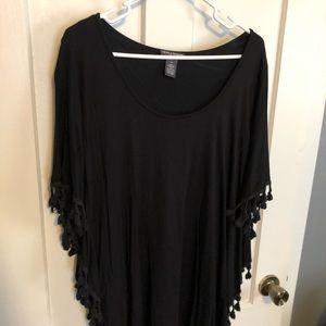 Black Poncho Shirt